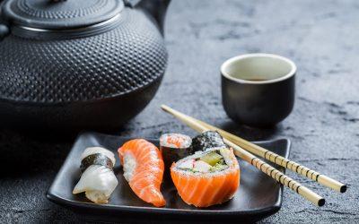 black tea sushi